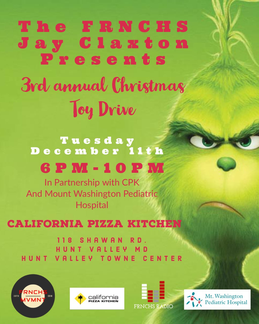 Admirable Christmas Toy Drive At California Pizza Kitchen Download Free Architecture Designs Scobabritishbridgeorg